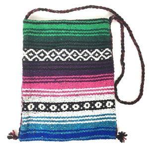 Earth Ragz Mexican Blanket Purse Crossbody Bag
